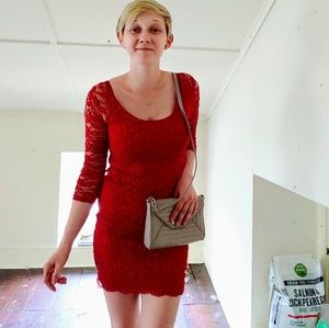 Red Guess Lace Dress